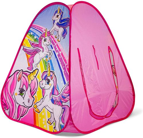 Ozbozz SV15482 Unicorn Fun Playing Pop Up Tent Pink Kids Roleplay